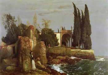 Villa by the Sea 1878 | Arnold Bocklin | oil painting