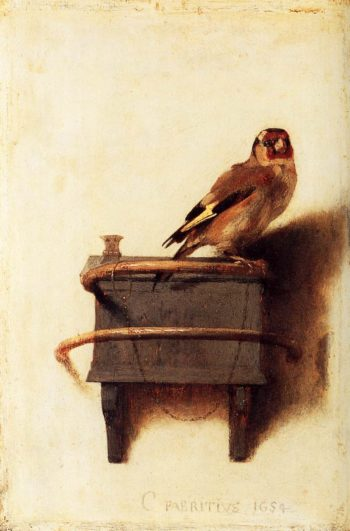 The Goldfinch 1654 | Carel Fabritius | oil painting