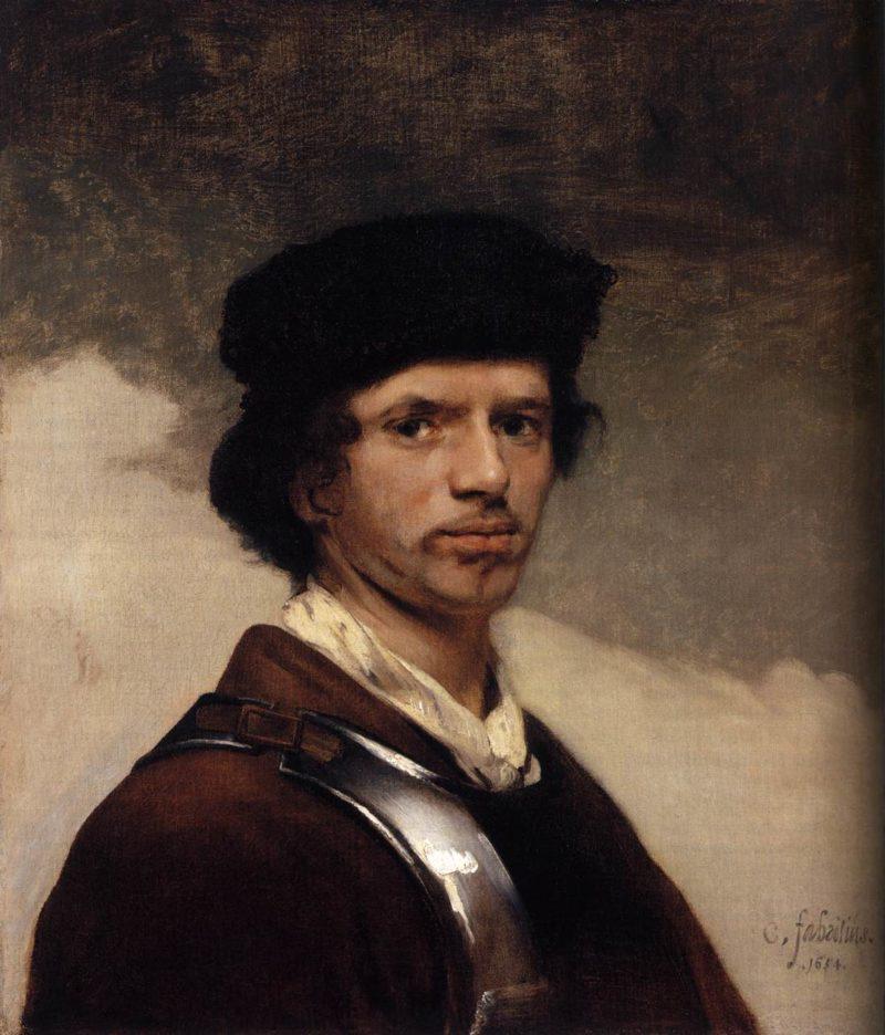 Self Portrait 1654   Carel Fabritius   oil painting