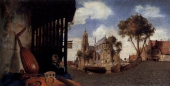 View of the City of Delft 1652 | Carel Fabritius | oil painting