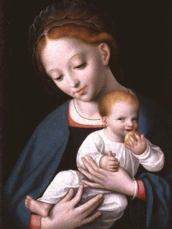 Virgin and Child | Cornelis van Cleve | oil painting
