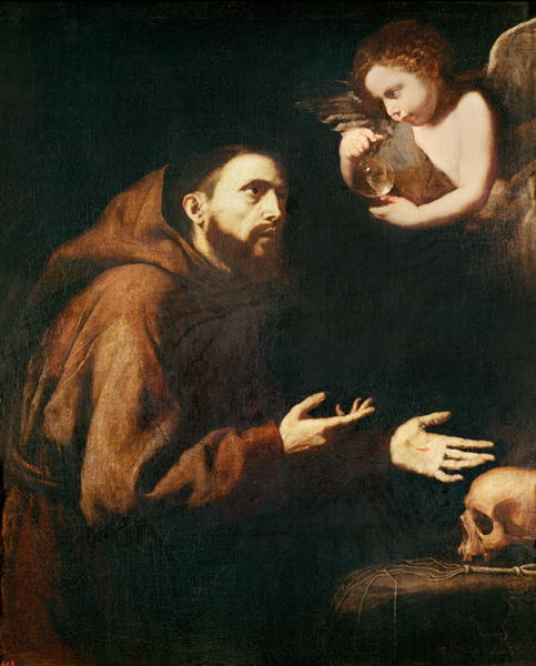 Vision Of St Francis Of Assisi Painting Jusepe De Ribera Oil Paintings