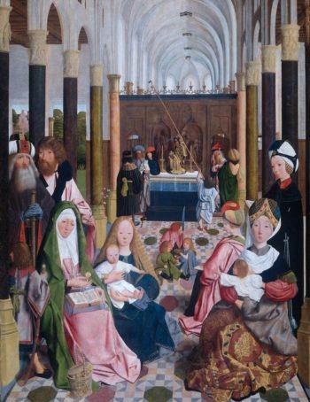 The Holy Kinship 1485-95 | Geertgen Tot Sint Jans | oil painting