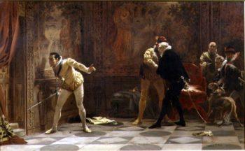Waiting for the King's Favourite 1877 | Laslett John Pott | oil painting