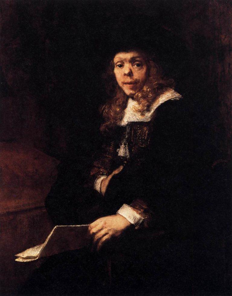 Portrait of Gerard de Lairesse 1665-67   Aert De Gelder   oil painting
