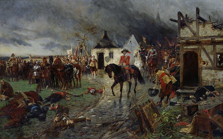 Wallenstein A Scene of the Thirty Years War   Ernest Crofts   oil painting