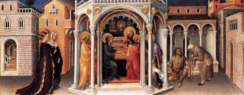 Presentation of Christ in the Temple 1423   Gentile Da Fabriano   oil painting