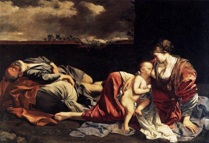 Rest on the Flight into Egypt 1628   Orazio Gentileschi   oil painting