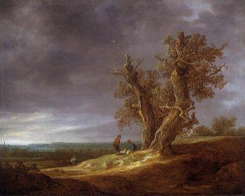 Landscape with Two Oaks 1641 | Jan Van Goyen | oil painting
