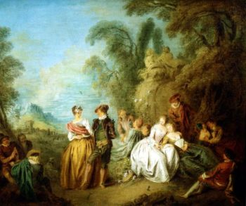 Watching the Dance 1720s | Jean Baptiste Joseph Pater | oil painting