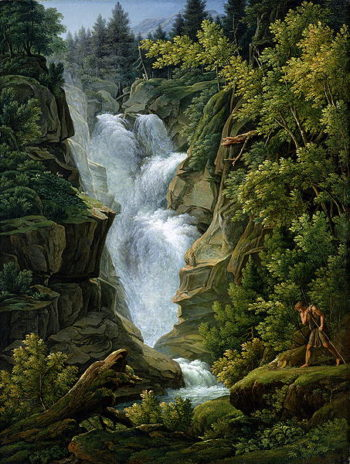 Waterfall in the Bern Highlands 1796 | Joseph Anton Koch | oil painting