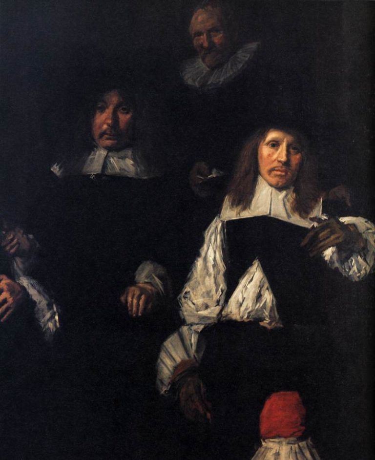 Regents of the Old Men's Almshouse (detail) 1664 | Frans Hals | oil painting