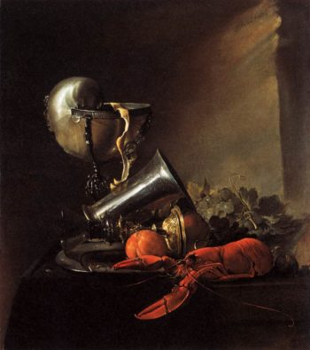 Still Life with Lobster and Nautilus Cup 1634 | Jan Davidsz De Heem | oil painting