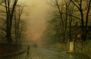 Where the pale moonbeams linger | John Atkinson Grimshaw | oil painting