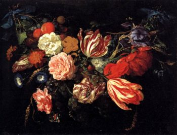 Festoon with Flowers and Fruit 1660s | Jan Davidsz De Heem | oil painting
