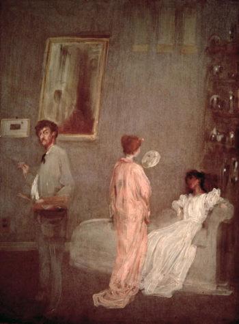 Whistler in his studio 1865 66 | James Abbott McNeill Whistler | oil painting