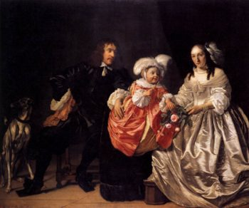 Pieter Lucaszn van de Venne with Anna de Carpentier and Child 1652 | Bartholomeus Van Der Helst | oil painting