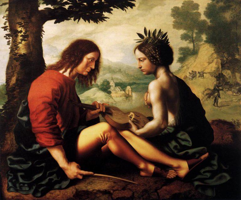 Allegorical Scene 1550 | Jan Sanders Van Hemessen | oil painting