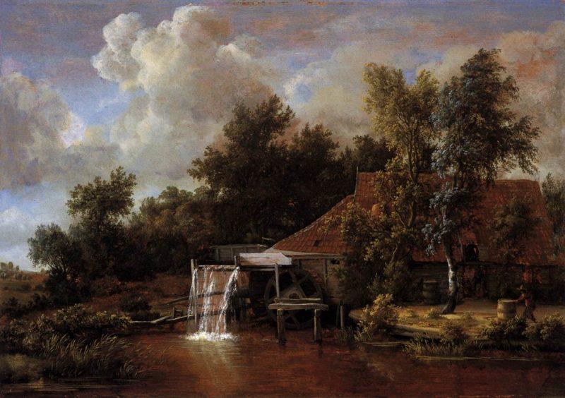 A Watermill 1666 | Meyndert Hobbema | oil painting
