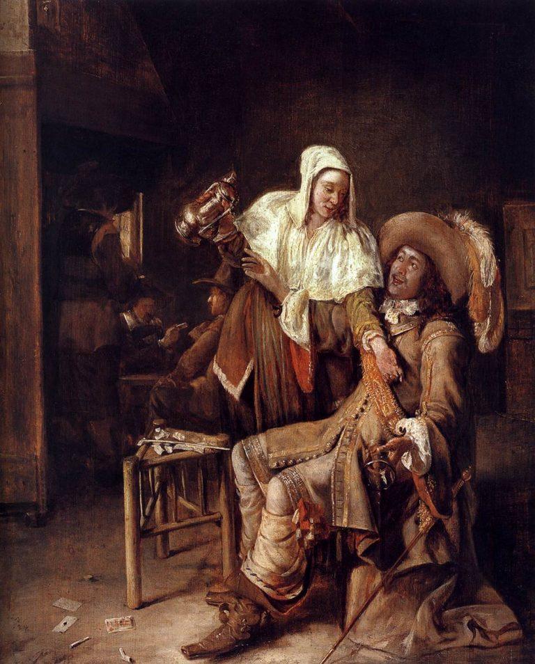 The Empty Glass 1653-54 | Pieter De Hooch | oil painting