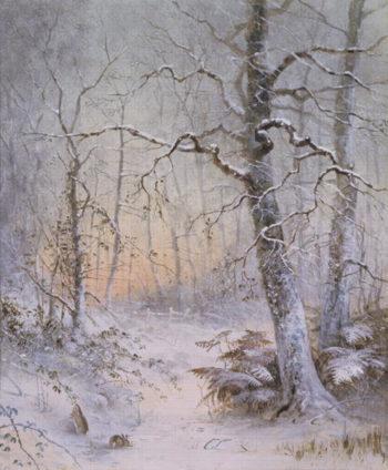 Winter Breakfast | Joseph Farquharson | oil painting