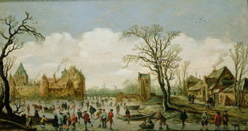 Winter Landscape with a Walled Castle 1626 | Jan Josephsz van Goyen | oil painting