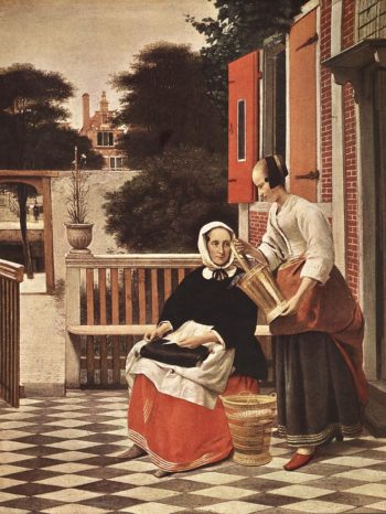 Woman and Maid 1657 | Pieter De Hooch | oil painting