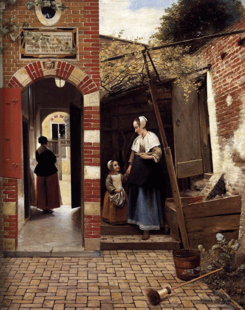 The Courtyard of a House in Delft 1658   Pieter De Hooch   oil painting