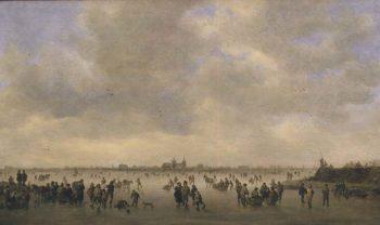 Winter Landscape with Skaters Before S'Hertogenbosch | Jan Josephsz van Goyen | oil painting