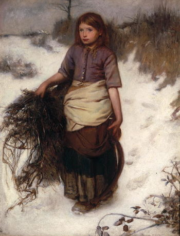Winter   Frank Holl   oil painting