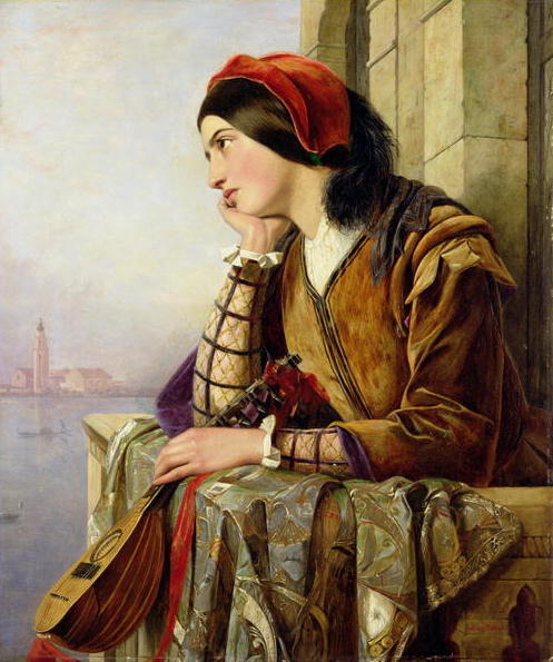 Woman in Love 1856 | Henry Nelson O'Neil | oil painting
