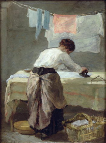 Woman Ironing | Armand Desire Gautier | oil painting