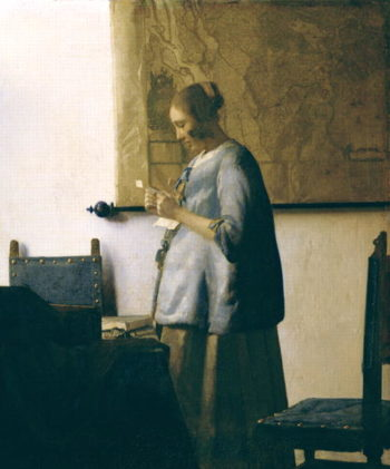 Woman Reading a Letter 1662 63 | Jan Vermeer | oil painting