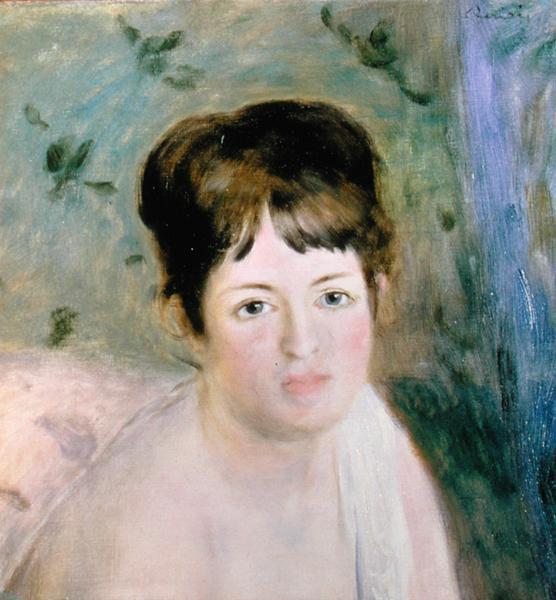 Woman's Head 1876 | Pierre Auguste Renoir | oil painting