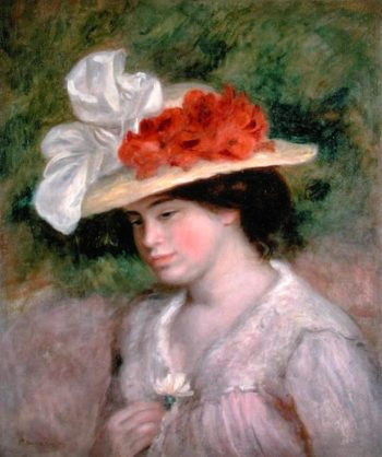 Woman with a Flowery Hat 1899 | Pierre Auguste Renoir | oil painting