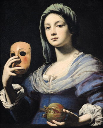 Woman with a Mask | Lorenzo Lippi | oil painting
