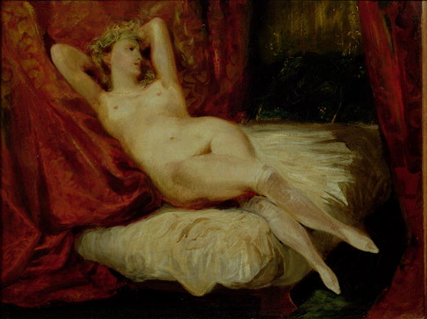 Woman with White Stockings   Eugene Delacroix   oil painting