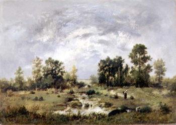 Wooded landscape 1870 | Narcisse Virgile Diaz de la Pena | oil painting