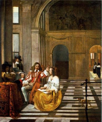 Company Making Music | Pieter De Hooch | oil painting