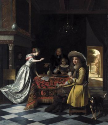 Card Players at a Table 1670-74 | Pieter De Hooch | oil painting