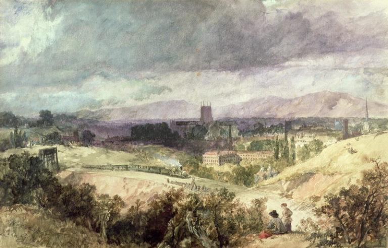 Worcester   Sir John Gilbert   oil painting