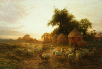 Yon Yellow Sunset Dying in the West | Joseph Farquharson | oil painting