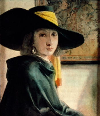 Young Girl in an Antique Costume | Jan Vermeer | oil painting