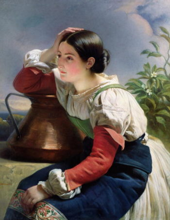 Young Italian at the Well 1833 34   Franz Xavier Winterhalter   oil painting