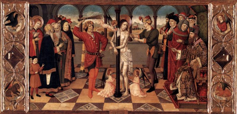 The Flagellation of Christ 1450s | Jaume Huguet | oil painting