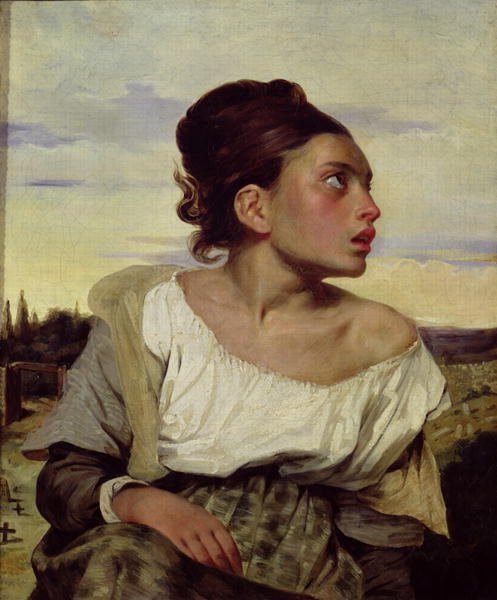 Young Orphan in the Cemetery 1824 | Delacroix | oil painting