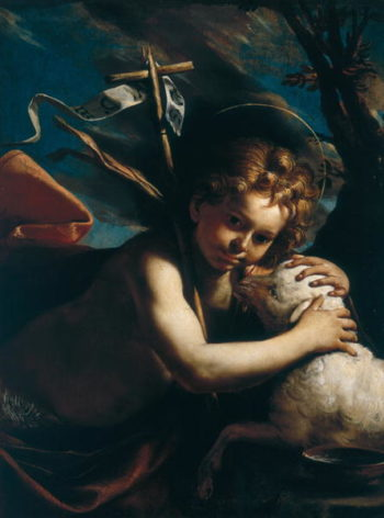 Young St John the Baptist   Mattia Preti   oil painting