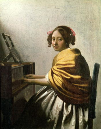 Young Woman at a Virginal | Jan Vermeer | oil painting