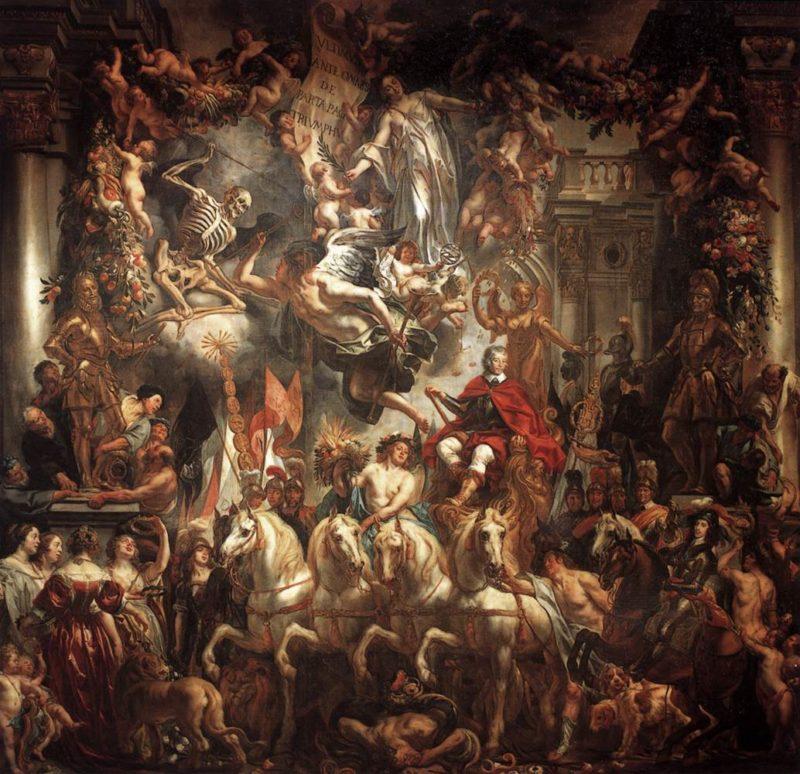 Triumph of Frederik Hendrik 1647-52   Jacob Jordaens   oil painting
