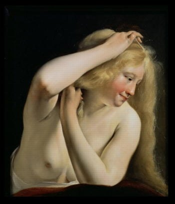 Young Woman Combing Her Hair | Salomon de Bray | oil painting